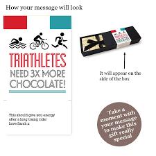 triathlete gift chocolate bar box set