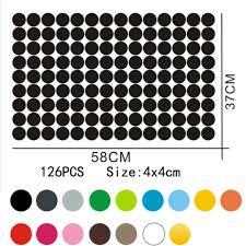set of 126 polka dot wall stickers
