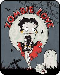betty boop zombie love regal comfort queen size heavy weight blanket