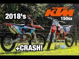 2018 ktm 150sx. interesting 2018 2018 ktm 150sx shootout  crash throughout ktm