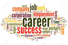 Career Related Words Concept In Word Tag Cloud On White Stock Photo