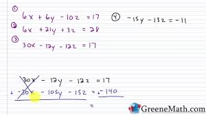 algebra ii solving systems of linear equations in three variables test 5