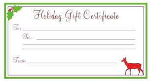 Gift Certificate Printable Free Christmas Gift Certificates Free Gift Card Template
