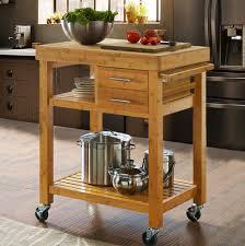 kitchen island cart. Rolling Bamboo Kitchen Island Cart Trolley, Cabinet W/ Towel Rack Drawer Shelves I