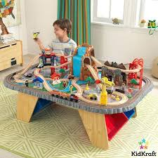 kidkraft play table waterfall junction train set table 3 years kidkraft wooden play table train table