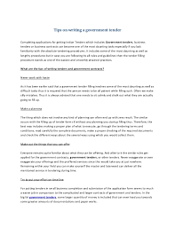 Tips For Completing Application Forms Tips On Writing A Government Tender