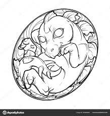 детские стегозавра в яйце милый животных рисунок эскиз иллюстрация