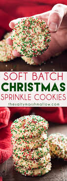 holiday sugar cookies with sprinkles. Interesting Holiday Soft Batch Christmas Sprinkle Cookies Are A Super Easy Holiday Sugar Cookie   No Rolling The In Holiday Sugar With Sprinkles S