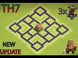 Base 7 Clash Of Clans Th7 Farming Base Best Town Hall 7 Defense