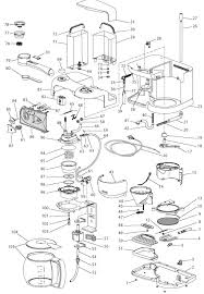 delonghi coffee maker spares accessories bco260cd delonghi bco260cd exploded spare parts diagram