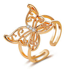 Fashion <b>Jewelry</b> Opening High-grade <b>Copper Inlaid</b> Zircon Butterfly ...
