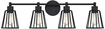 Does A Bathroom Light Need An Earth Quoizel Atticus 32 Inch Wide Earth Black 4 Light Bath Light