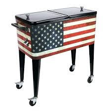 outdoor ice chest wood patio coolers beverage cooler ideas for your or deck on wheels wooden outdoor ice chest wood