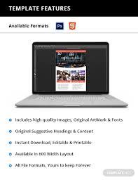 Newletter Formats Church Newsletter Template Psd Html5 Template Net