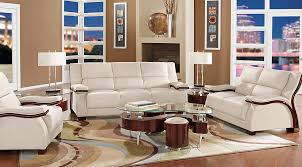 White Modern Living Room Simple Park Row White 48 Pc Living Room Living Room Sets White