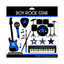 boy rock star clipart digital clip art graphics for personal or commercial use 3 00