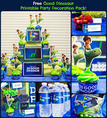 free good dinosaur printable party decoration pack gooddinoevent