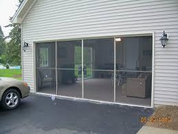 garage screen door patio enclosure installation gallery for doors inspirations 16