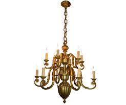gilded bronze chandelier 12 lights