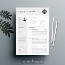 resume templates creative market resume template 4 pages moonlight