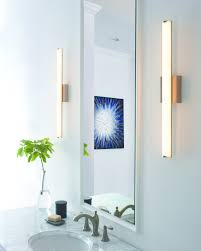 long wall sconce lighting. Charming Bathroom Sconce Lights The Length Between Two Tube Long Mirror Wall Lighting A