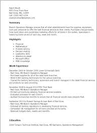 resume sample resume retail banking operations professional branch  operations manager templates to showcase your resume manager