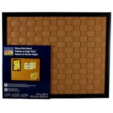 Cork Bulletin Board Woven Cork Board By Artmindsr