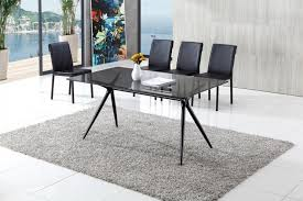 seveno modern glass dining table with amber dining chairs