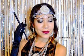 picture of 1920 s the great gatsby inspired hair makeup