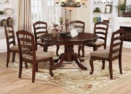cm3109rt 7 pc townsville dark walnut finish wood 54 round dining table set