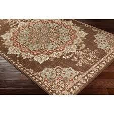 medallion area rug fl medallion traditional dark brown beige area rug ndash modern rugs