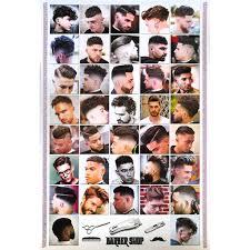 โปสเตอร ทรงผมชาย Mens Hairstyles Poster 24x35 Inch Fashion Barber Salon Hairdresser V11