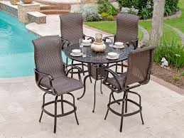 image of bar height outdoor table ideas