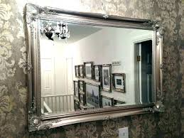 wall mirrors large vintage mirror antique tiles white frame silver framed oval wa large antique