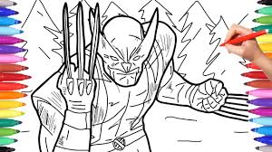 Lego super heroes coloring pages #8359039. X Men Wolverine Coloring Pages Marvel Superheroes Coloring Pages For Kids How To Draw Wolverine Youtube