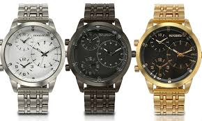 rousseau 3 time zone men s watch groupon goods rousseau becker 3 time zone men s watch rousseau becker 3 time zone men s watch