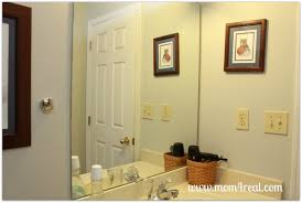 Bathroom Mirror Frame Frame Out Your Builders Grade Mirror Without Mitering Mom 4 Real
