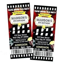 Movie Night Invitation Template Free Theme Invitations Fresh Invitation Templates Free Or Red Cinema