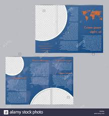 Tri Fold Flyer Brochure Template Design With Scribbled World
