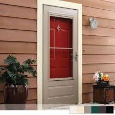 400 series 3 4 view self storing aluminum storm door