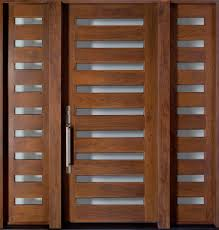 modern wood exterior doors. american walnut solid wood front entry door - single with 2 sidelites modern exterior doors r