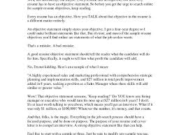 Purpose Of A Resume Good Objective Statement For Resume Examples Examples Of Resumes 66