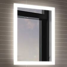 bathroom mirrors with led lights. 500 X 700 Mm Illuminated LED Bathroom Mirror With Light Vanity Sensor  + Demister Bathroom Mirrors With Led Lights I