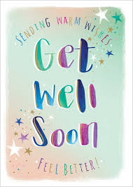 Get Well Card Details About Notes Queries Sending Warm Wishes Multi Colored Letters Get Well Card