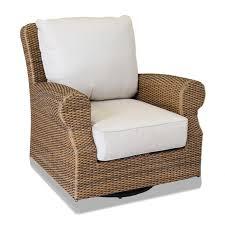 sunset west santa cruz swivel rocking club chair with cushions in caramel