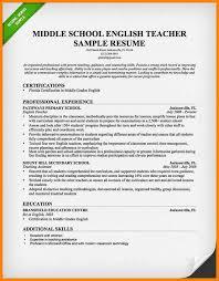 Example Of Teaching Resume English Teacher Resume Sample 2015 Jpg
