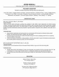 Primary School Teacher Resume Sample Unique Pre Primary School ...