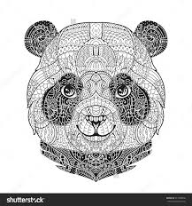 Animal Portrait In Zentangle Style For