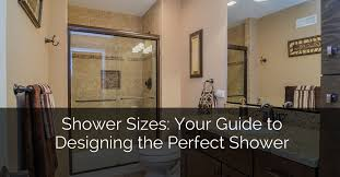 Kitchen And Bath Design Courses Beauteous Shower Sizes Your Guide To Designing The Perfect Shower Home