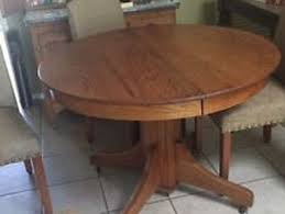 antique oak 42 in round dining table with 1 leaf on antique dining room
